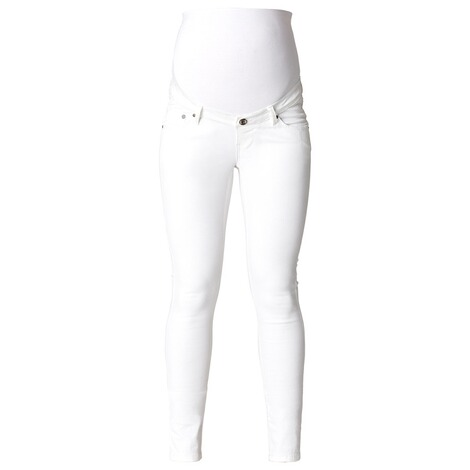 NOPPIES  Slim Umstandsjeans Leah  White 1