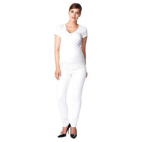 NOPPIES  Slim Umstandsjeans Leah  White 6