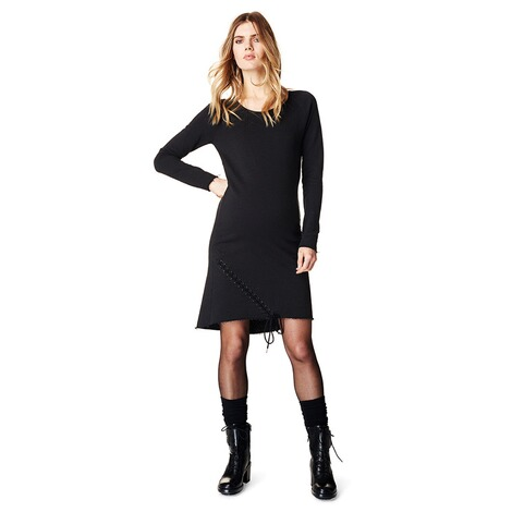 SUPERMOM  Kleid Sweat Lace Up  Black 4