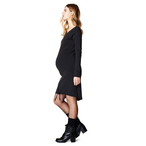 SUPERMOM  Kleid Sweat Lace Up  Black 6