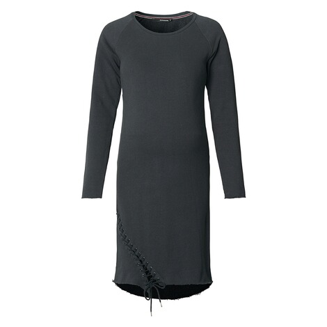 SUPERMOM  Kleid Sweat Lace Up  Black 1