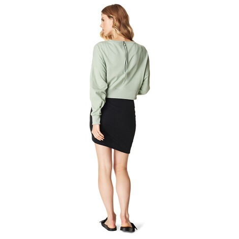 SUPERMOM  Pullover Cropped  Light Green 5