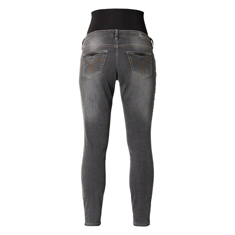 QUEEN MUM  Slim Umstandsjeans  Grey Denim 2