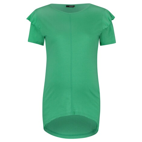 SUPERMOM  T-shirt Ruffle  Bright Green 1
