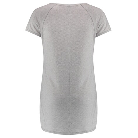 SUPERMOM  T-shirt Check  Light Grey 2