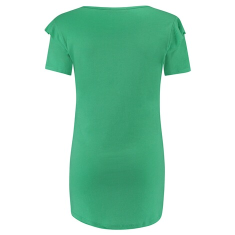 SUPERMOM  T-shirt Ruffle  Bright Green 2