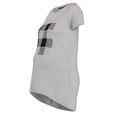 SUPERMOM  T-shirt Check  Light Grey 3