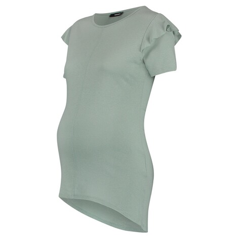 SUPERMOM  T-shirt Ruffle  Light Green 3