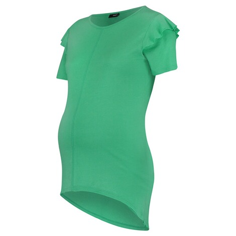 SUPERMOM  T-shirt Ruffle  Bright Green 3