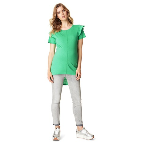 SUPERMOM  T-shirt Ruffle  Bright Green 4