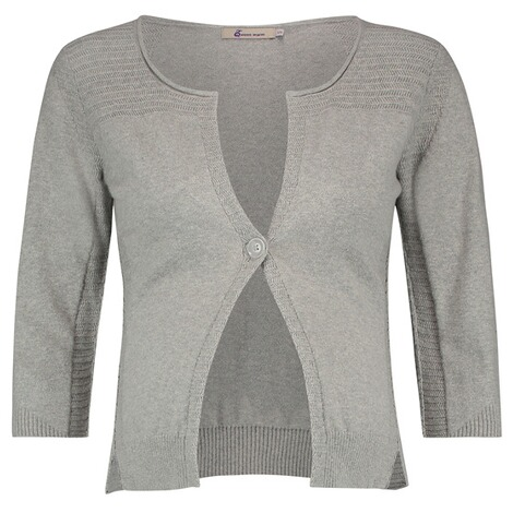 QUEEN MUM  Strickjacke  Grey Melange 1
