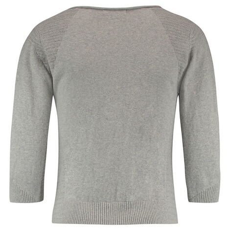 QUEEN MUM  Strickjacke  Grey Melange 2
