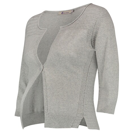 QUEEN MUM  Strickjacke  Grey Melange 3