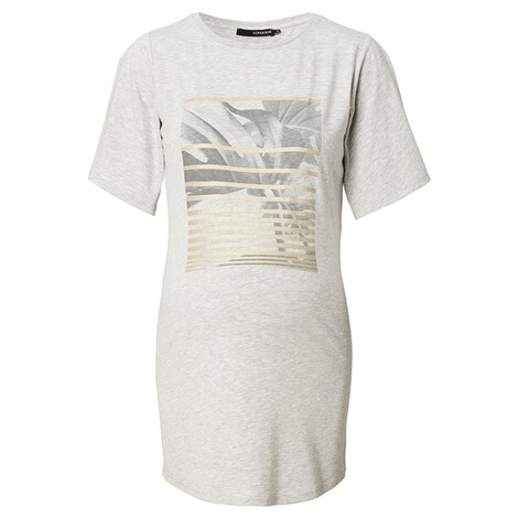 SUPERMOM  T-shirt Print Gold  Light Grey Melange 1