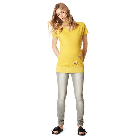 SUPERMOM  T-shirt Lace Up  Yellow 4