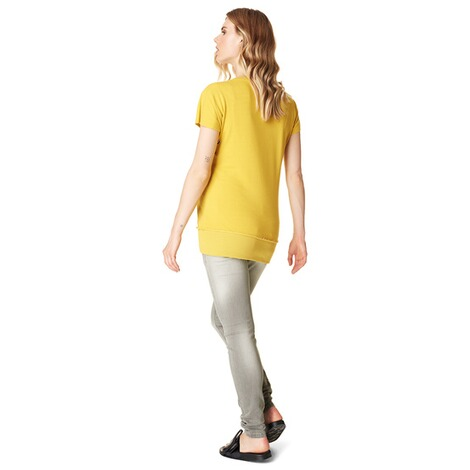 SUPERMOM  T-shirt Lace Up  Yellow 5