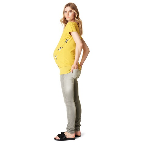 SUPERMOM  T-shirt Lace Up  Yellow 6