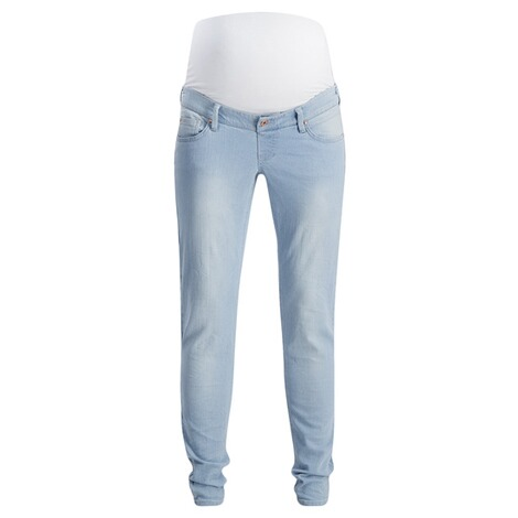 QUEEN MUM  Slim Umstandsjeans  Light Stone Wash 1
