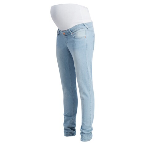 QUEEN MUM  Slim Umstandsjeans  Light Stone Wash 3
