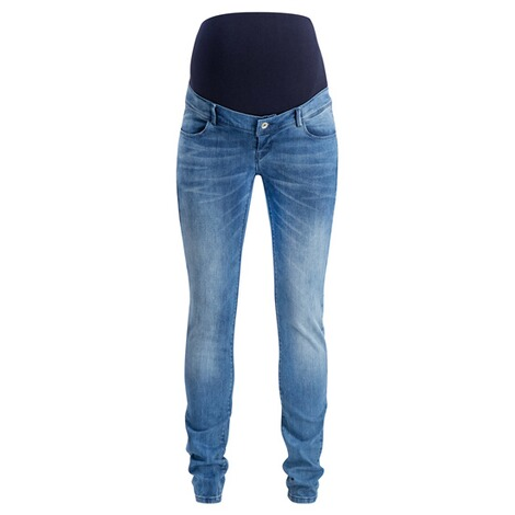NOPPIES  Slim Umstandsjeans Mila  Blue Denim 1