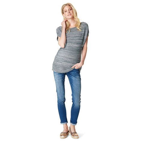 NOPPIES  Slim Umstandsjeans Mila  Blue Denim 5