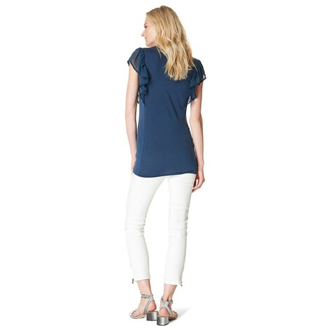 NOPPIES  T-shirt Daimy  Navy 5