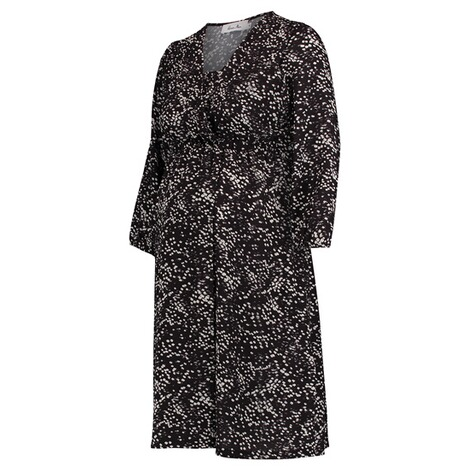 Queen Mum  Still-Kleid  Black AOP 5