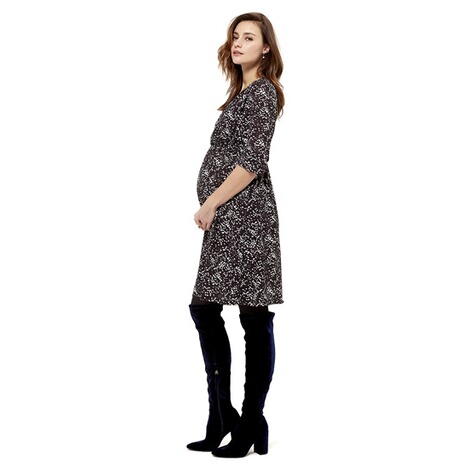 Queen Mum  Still-Kleid  Black AOP 4