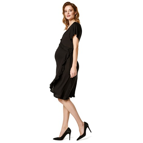 Supermom  Kleid Wrap Black Nurs  Black 4