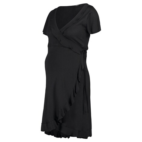 Supermom  Kleid Wrap Black Nurs  Black 5