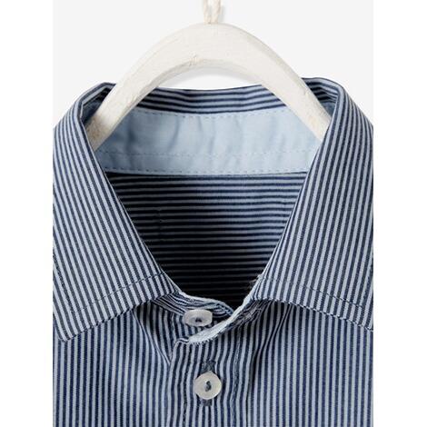 new arrival ecd20 1ea2a Gestreiftes Hemd für Baby Jungen gestreift dunkelblau