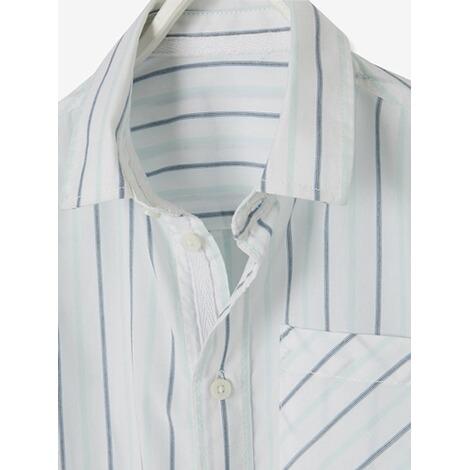 newest 1bd70 b78c0 Gestreiftes Hemd für Jungen gestreift hellweiss