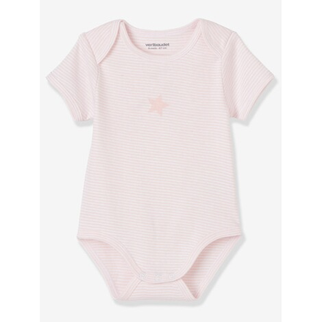 VERTBAUDET  HAPPY PRICE 3er-Pack Baby-Bodys kurzarm  pack rosa 3