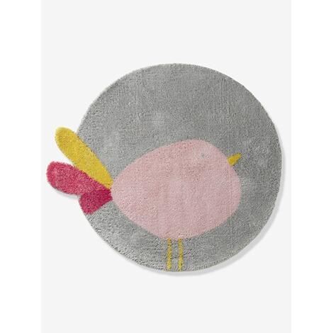 vertbaudet runder kinder teppich kleiner vogel online kaufen baby walz. Black Bedroom Furniture Sets. Home Design Ideas
