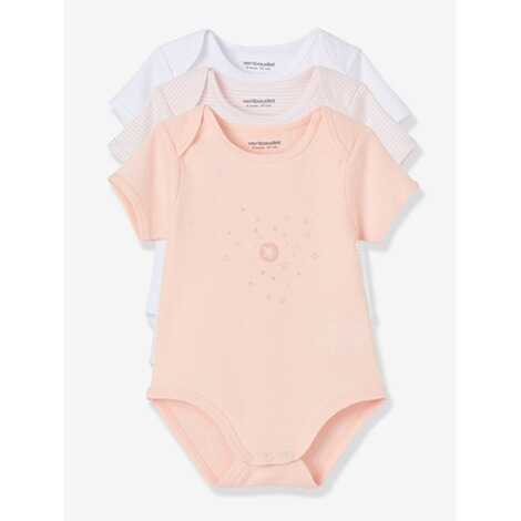 VERTBAUDET  HAPPY PRICE 3er-Pack Baby-Bodys kurzarm  pack rosa 5