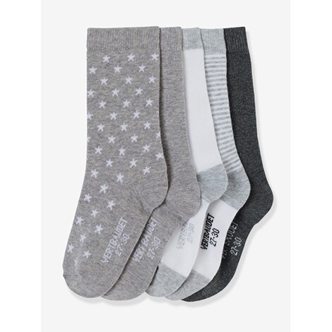 VERTBAUDET  HAPPY PRICE 5er-Pack Socken für Kinder  pack grau 1