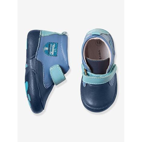 best sneakers 2f5a8 73e3d Vertbaudet Leder Krabbelschuhe für Jungen dunkelblau