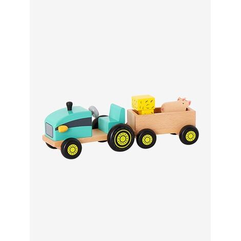 Holztraktor mit Anhänger Holzspielzeug