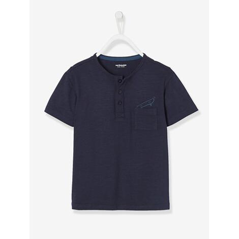 the best attitude eb0eb 46f92 T-Shirt mit Brusttasche, bedruckt dunkelblau einfärbig mit app.