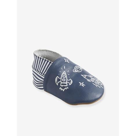 buy popular 74a43 da50b Vertbaudet Krabbelschuhe für Babys weiches Leder blau