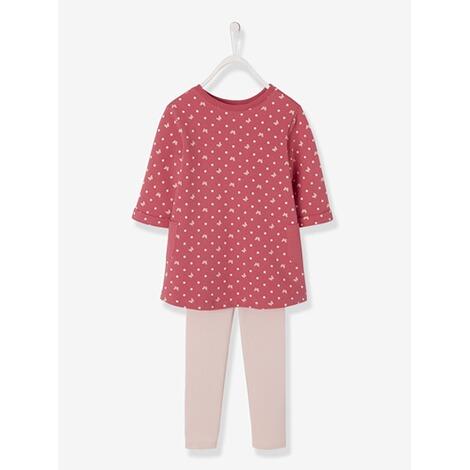 2a159a23c60e02 Vertbaudet Mädchen-Set aus Kleid und Leggings online kaufen