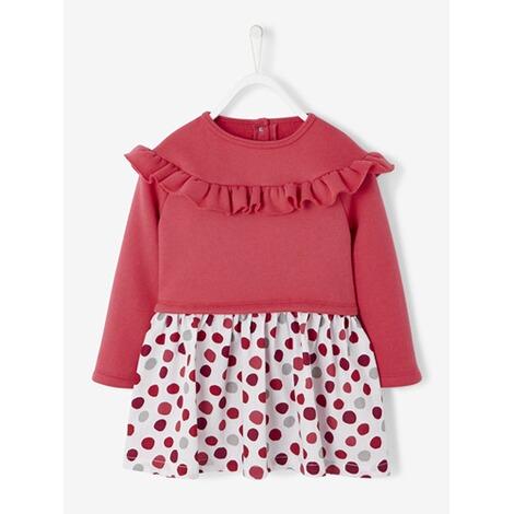 feb46bb96960aa Vertbaudet Gemütliches Mädchen Kleid mit Tüll online kaufen