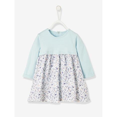 cheaper 28781 7889d 2-in-1 Babykleid mit Body gedruckt hellblau