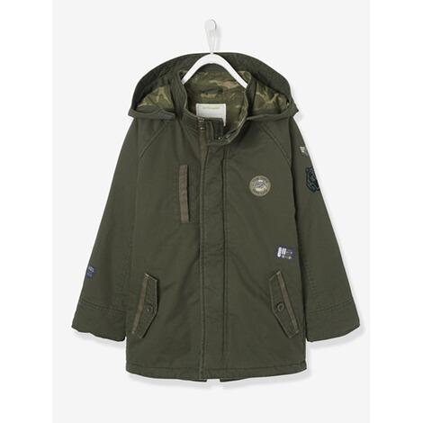wholesale dealer ddcb9 0df4d Jungen-Regenjacke für mit vielen Taschen dunkelgrun einfarbig mit app.