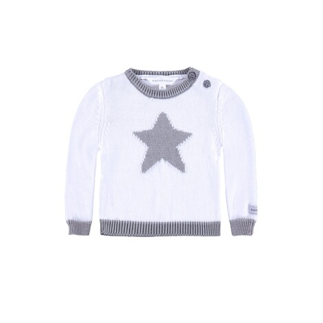 BELLYBUTTON  Baby Pullover mit Stern  bright white 1
