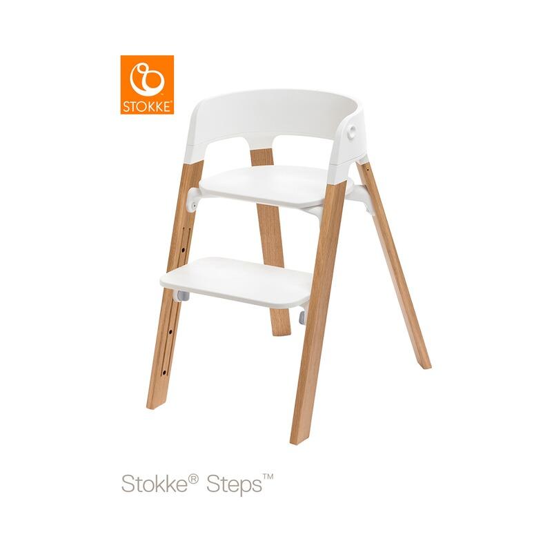 STEPS™ Hochstuhl Komplett-Set Eiche Weiß / Natur