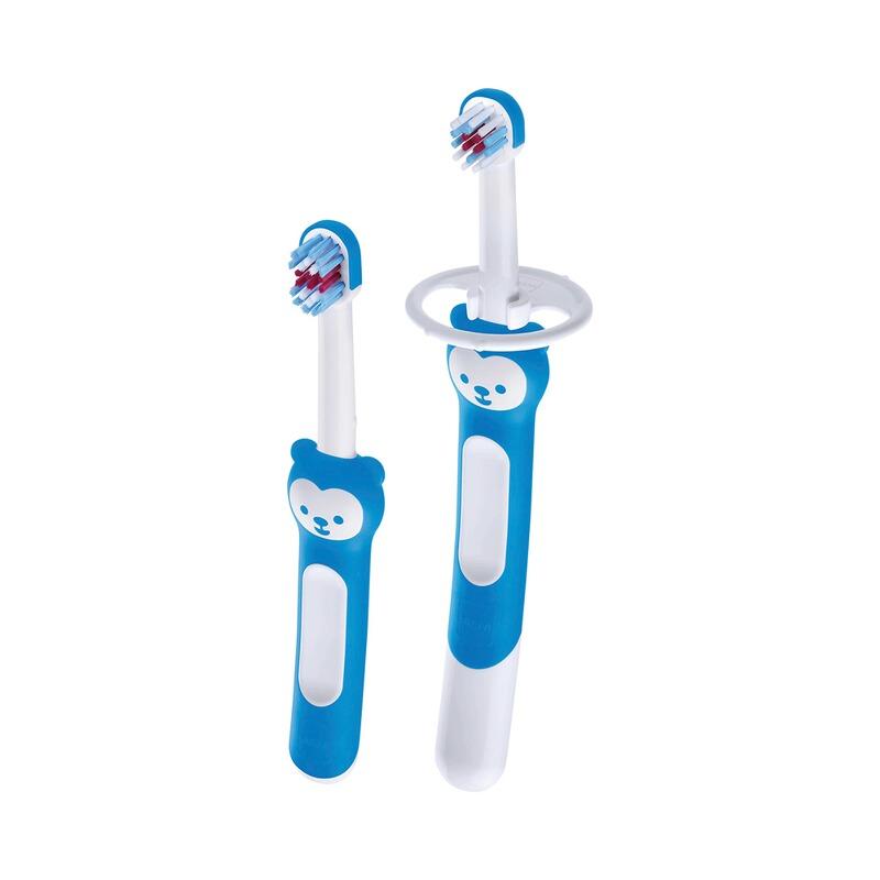2er-Set Baby-Zahnbürsten blau