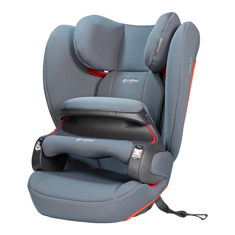 SILVER Pallas B-fix Kindersitz steel grey