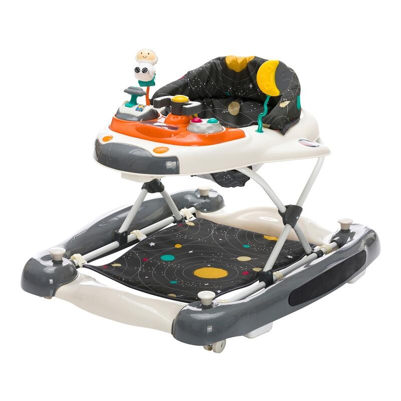 3-fach h/öhenverstellbarer Lauflerner mit Sicherheitsstopper 4 R/ädern /& elektronischem Spielbrett fillikid Lauflernhilfe mit Schaukelfunktion