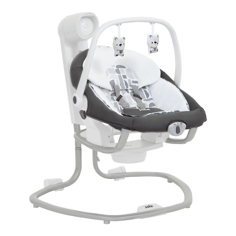 Babyschaukel Serina™ 2in1 Logan, in Rosa und Grau erhältlich